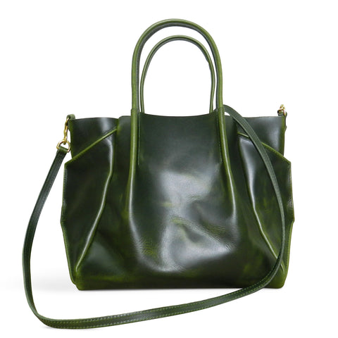 Zoe Tote in Loden Oil Tanned Cowhide