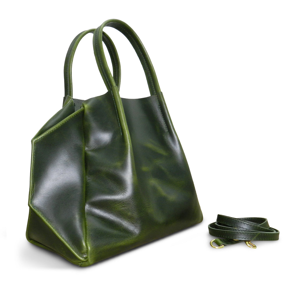 Zoe Tote in Loden Oil Tanned Cowhide- Email for Restock!
