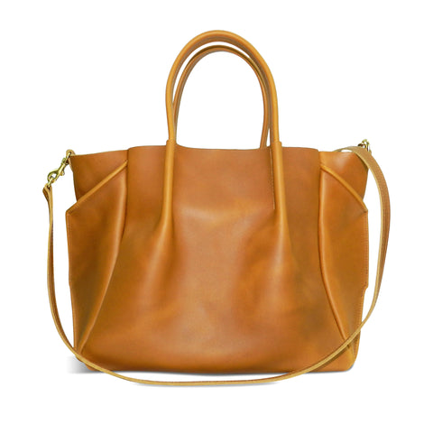 Zoe Tote in Sunflower Oil Tanned Cowhide