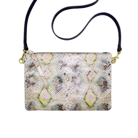 queenie crossbody in spring diamond snake leather