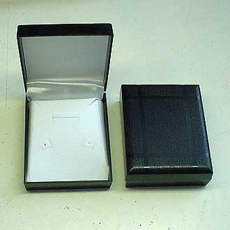 Gift Box - Black Plastic Gift Box 83x68x30mm for Necklace and Earrings Sets
