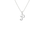 Children's Necklaces:  Sterling Silver/CZ Initial P Necklaces