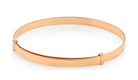 Baby and Children's Bangles:  9k Rose Gold Adjustable Bangles with Complimentary Piccolo Gift Boxes