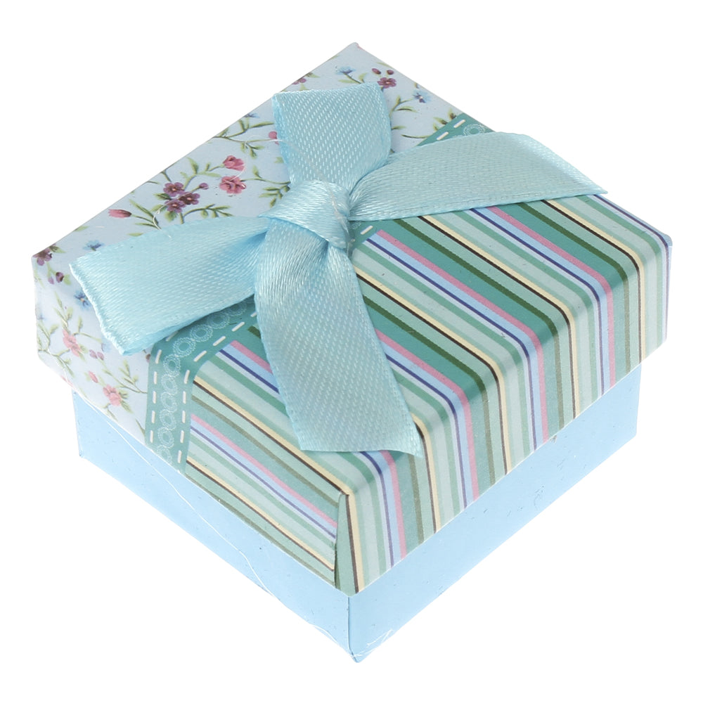 Gift box - Blue/Pink/Green/Floral/Striped Cardboard Box for Earrings, Rings, Necklaces or Bracelets