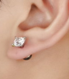 Mothers' and Teens' Earrings:  Titanium CZ with Easy Grip Screw Backs