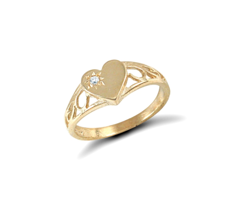 Children's Rings:  9K Gold Keepsake Rings with Gift Box UK Size G