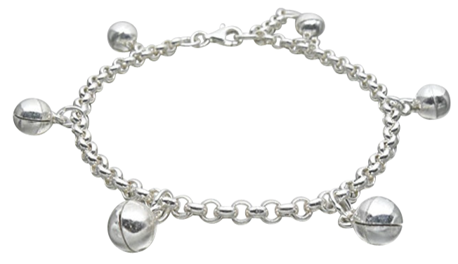 Baby and Children's Anklets/Bracelets:  Sterling Silver Baby Anklets/Children's Bracelets with 6 Bells
