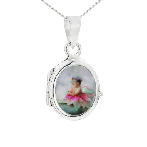 Baby and Children's Necklaces:  Sterling Silver Lockets with Complimentary Gift Box