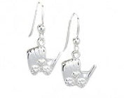 Mothers' Earrings:  Sterling Silver Baby Carriage Earrings