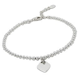 Mothers', Teenagers' and Children's Bracelets - Sterling Silver Ball Bracelets with Classic Heart Charm