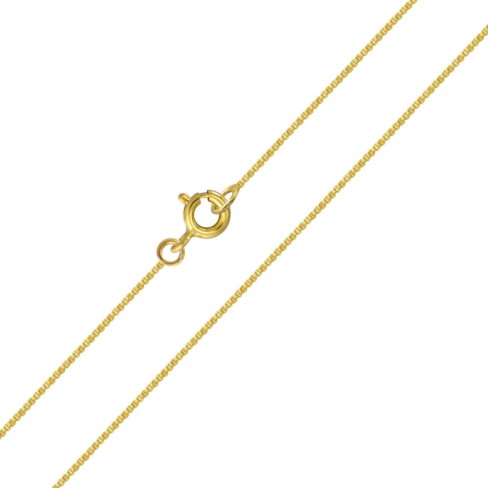 "Children's Chains:  14k Gold over Sterling Silver Chains 14""/35cm"