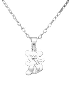 Baby and Children's Necklaces:  Sterling Silver Mother and Baby Koala Necklaces
