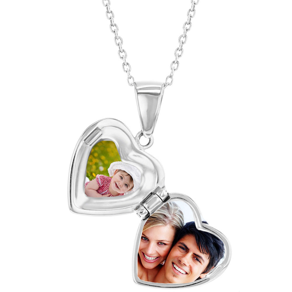 cd3ffd4273709 Children s Necklaces  Sterling Silver Cross Heart Locket Necklaces ...