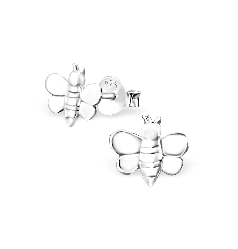 Children's Earrings:  Sterling Silver Bee Earrings