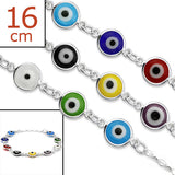 Children's Bracelets:  Sterling Silver Evil Eye Bracelets