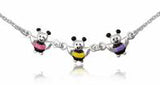 Baby and Children's Necklaces:  Sterling Silver Stripey Bee Necklaces