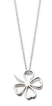 Teens' and Mothers' Necklaces:  Sterling Silver Lucky Clover Necklaces