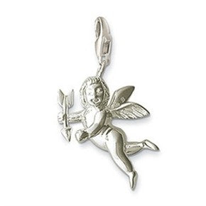 Teenagers' Charms:  Silver Plated Cupid Charm