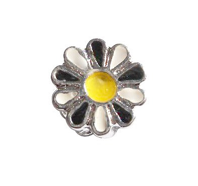 Children's Beads:  Silver Plated European Bead - Daisy