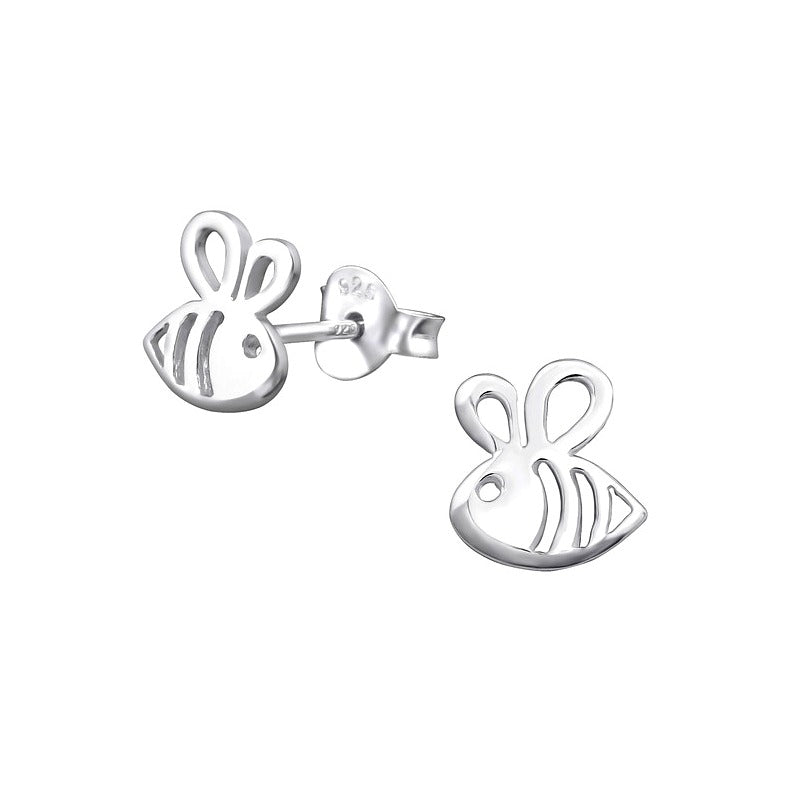 Children's Earrings:  Sterling Silver Children's Bee Earrings