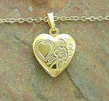 Childrens Lockets:  Gold Plated Locket and Chain