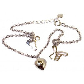 Children's Anklets:  Sterling Silver Anklets with Hand, Foot and Heart NOW BELOW COST!!