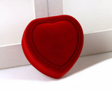 Gift Boxes:  Red Velvet Heart Shaped Earrings/Ring Gift Boxes