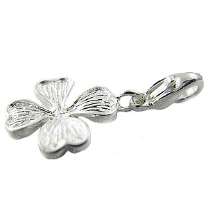 Mothers' and Children's Charms:  Sterling Silver Four Leaf Clover Charms