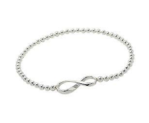Children's and Teens' Bracelets:  Sterling Silver Infinity Ball Bracelets