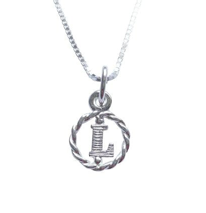 Baby and Children's Necklaces:  Sterling Silver Initial L Necklaces