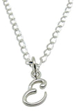 "Baby and Children's Necklaces:  Sterling Silver Initial ""E"""