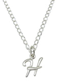 "Baby and Children's Necklaces:  Sterling Silver Initial ""H"""