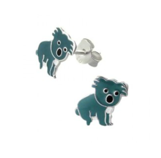 Children's Earrings:  Sterling Silver Australian Koala Earrings