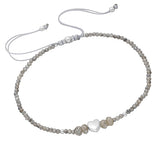 Children's Bracelets:  Sterling Silver, Genuine Flashy Labradorite, Extension Bracelets