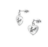 "Children's Bracelets:  Sterling Silver Ball Bracelets with ""Love"" Charm"