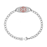 Children's Bracelets:  Surgical Steel Medical Alert Bracelets - Diabetic Insulin