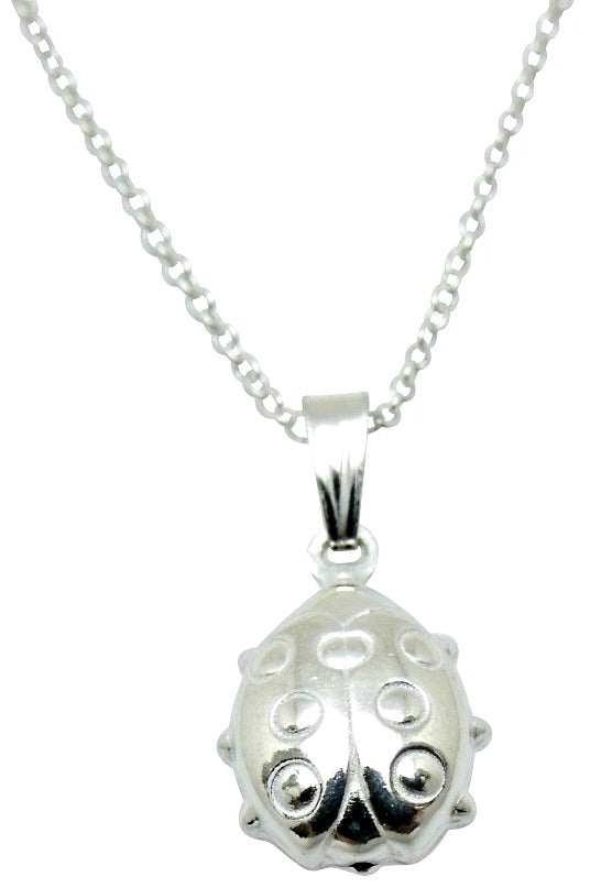 Baby and Children's Necklaces:  Sterling Silver Ladybug Necklaces