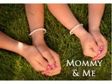 Mothers and Children's Bracelets:  Sterling Silver, Mother and Daughter Freshwater Pearl Matching Bracelet Sets