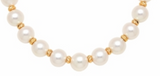 Children's Bracelets:  Gold Plated Pale Purple, 7mm Freshwater Pearl Stretch Bracelets
