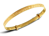 Baby Bangles:  9k Gold Expanding Nursery Bangles for Newborns with Gift Box