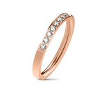 Children's Rings:  Surgical Steel, Rose Gold IP, with AAA White CZ in sizes 5 & 6 & 7