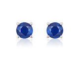Baby and Toddler Earrings:  Sterling Silver Sapphire CZ Screw Backs 3mm