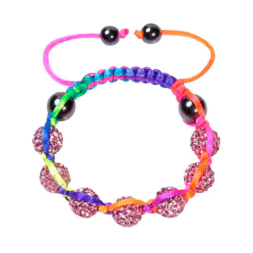 Baby and Children's Bracelets:  Disco Ball Friendship Bracelets in Neon Colours
