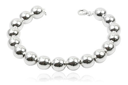 Children's Bracelets:  Silver Plated Ball Bracelets