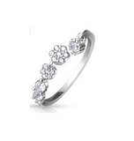Children's Rings:  Sterling Silver Adjustable, Sparkly CZ