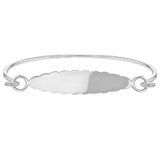 Children's Bangles:  Sterling Silver Cloud ID Bangle