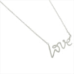 "Children's Necklaces:  Sterling Silver ""Love"" Necklaces"