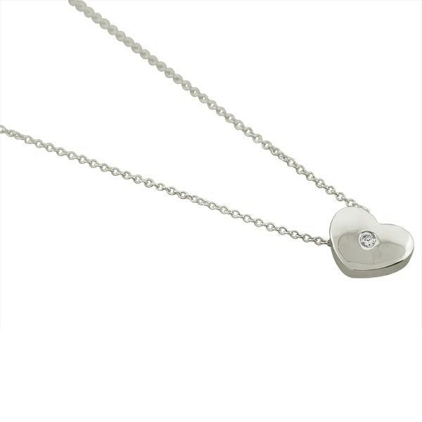 Teens' and Children's Necklaces:  Sterling Silver CZ Heart Necklaces