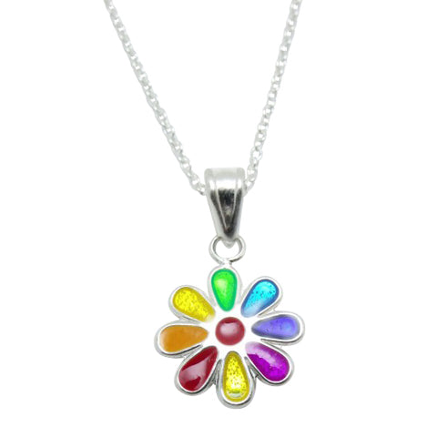 Baby and Children's Necklaces:  Sterling Silver Flower Necklaces