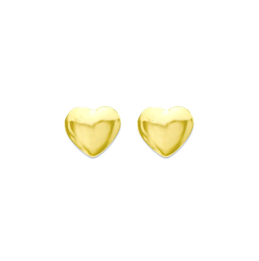 Baby and Children's Earrings:  14K Gold Tiny Hearts with Screw Backs